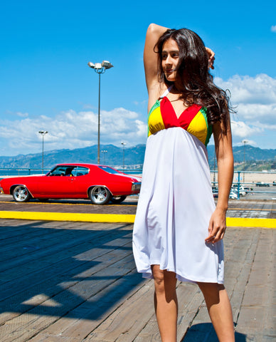 Knee-Length Reggae Dress