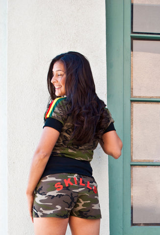Women's Draw String Camo Shorts