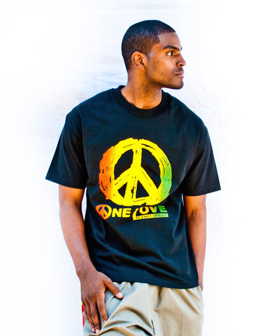 "Men's ""One Love"" Peace Tee"