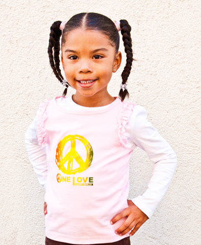 "Kids' ""One Love"" Ruffle-Sleeved Tank"