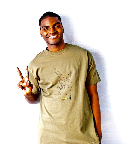 Men's Finger Peace Sign Tee