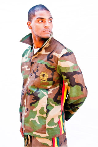 Men's Camouflage Reggae Army Jacket