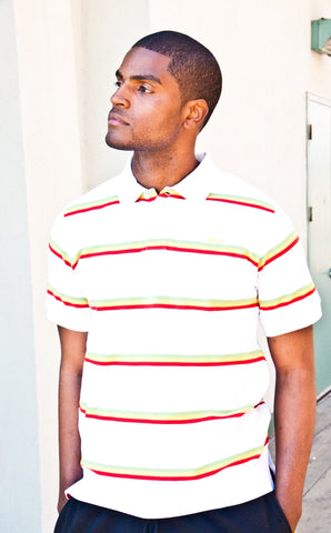Men's Reggae-striped Skills Polo