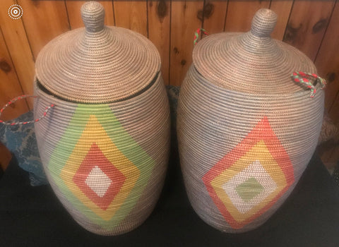 XXL Hand woven wash or storage basket.