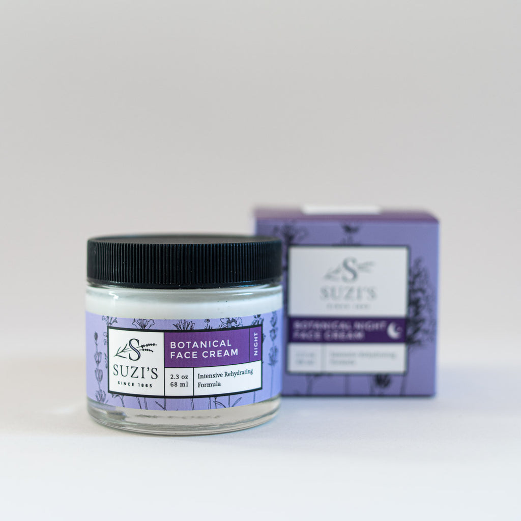 Soothing Botanical Face Cream Night With Aloe Cucumber - Suzi's Lavender