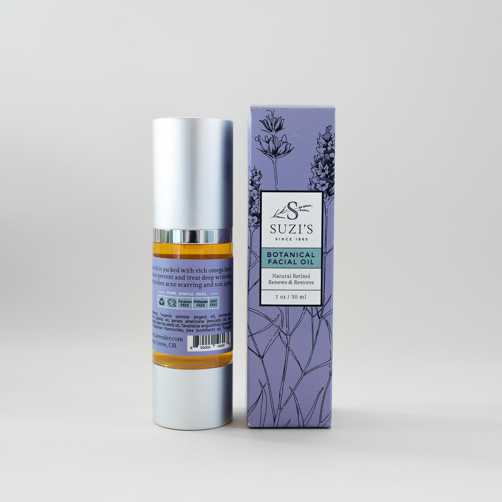All Natural Facial Oil With Argan Skincare - Suzi's Lavender