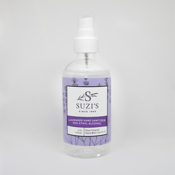 All Natural Hand Sanitizer With Lavender - Suzi's Lavender