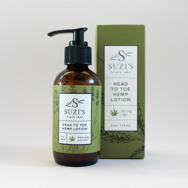 Hemp Lotion All Natural CBD Pain Relief - Suzi's Lavender
