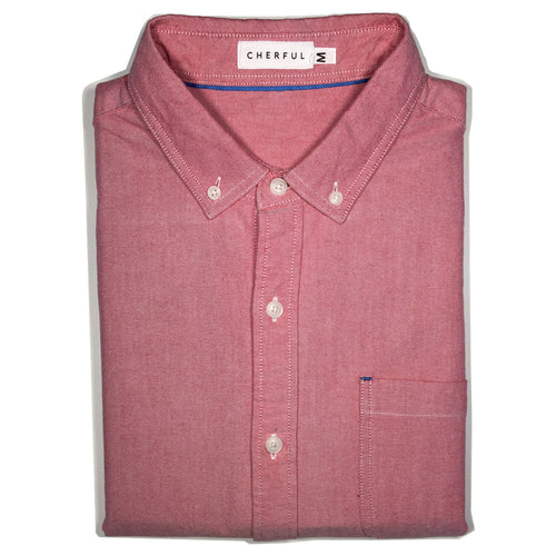 camisa manga larga oxford rosado