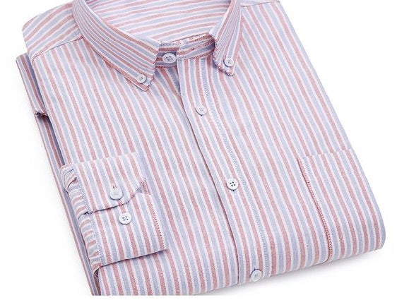 Camisa manga larga Oxford algodón Slim Fit