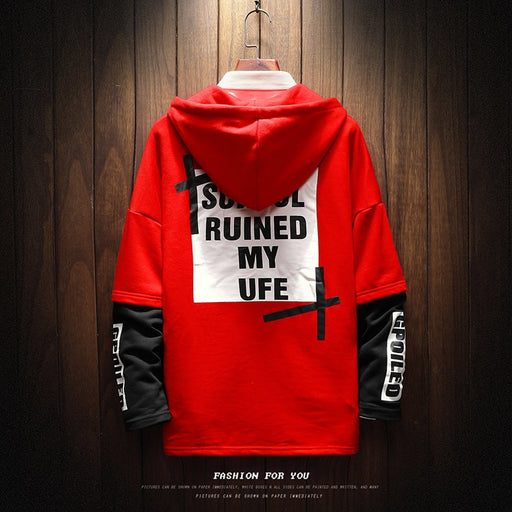 be17e8d75 Fashion Casual Men's Hoodie Spring And Autumn New S-5XL Large Size Printing  Loose Pullover