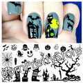 Rectangle Halloween Party Nail Art
