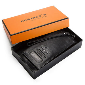 Men Wallet Clutch Genuine Leather Brand