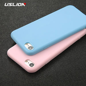 Simple Solid Color Ultrathin Soft Mobile Case