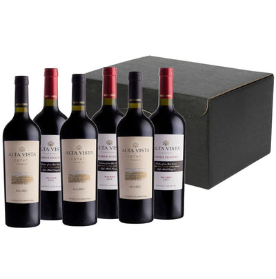 Mendoza Masters Wine Gift: Alta Vista Premium & Terroir Malbec in 6 bottle hamper carton