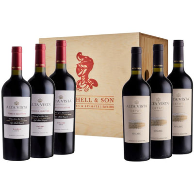 Mendoza Masters Wine Gift: Alta Vista Premium & Terroir Malbec in 6 bottle wooden box