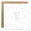 Word Series Thank You Bold Bunny Greeting Card