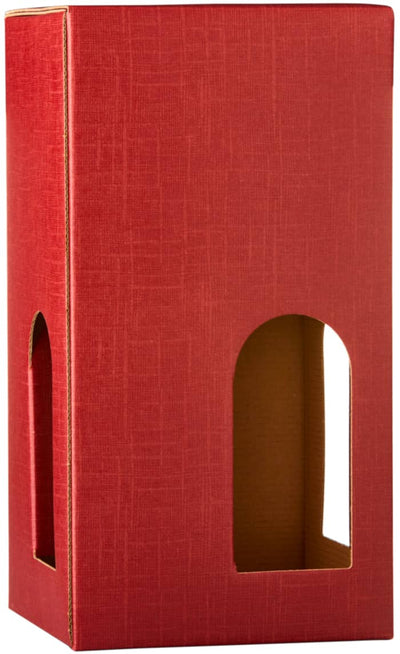 4 Bottle Wine Gift Carton - Red
