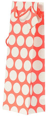 Wine Gift Bag - Fluorescent Orange with White Polka Dots