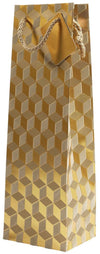 Wine Gift Bag - Bronze Geometric Velvet