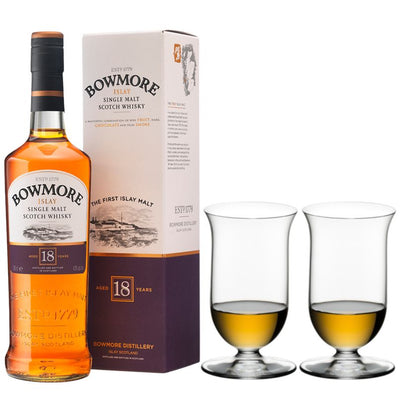 Perfect Pairings - Riedel Vinum Single Malt Whisky & Bowmore 18 year old Islay Scotch Whisky