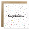 'Congratulations' Bold Bunny Greeting Card