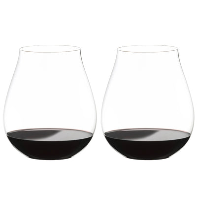 0414/67 Riedel 'Big O Series' Pinot Noir Box of 2 Stemless Wine Glasses