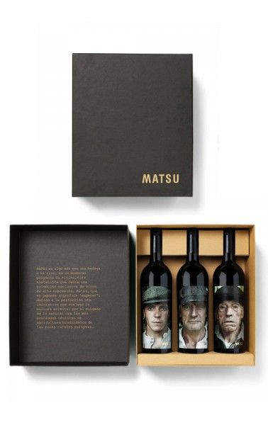 Matsu Collection 3 x 75cl wine gift set