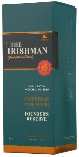 The Irishman Founder's Reserve Caribbean Cask Finish Irish Whiskey presentation box