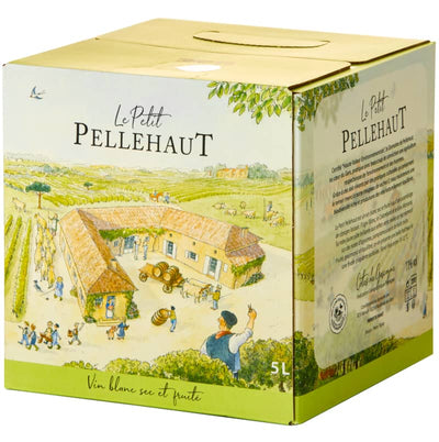 Le Petit Pellehaut Blanc 5 litre Bag-in-Box | French White Wine