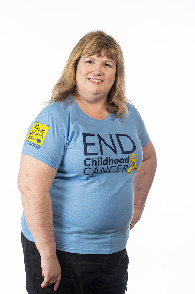 Ladies End Childhood Cancer Awareness T shirt