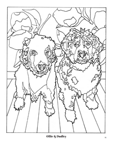 Puppy Portraits Coloring Book