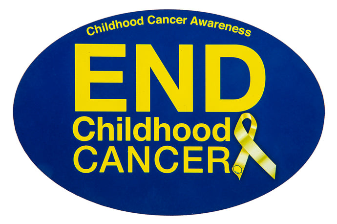 End Childhood Cancer Car Magnet