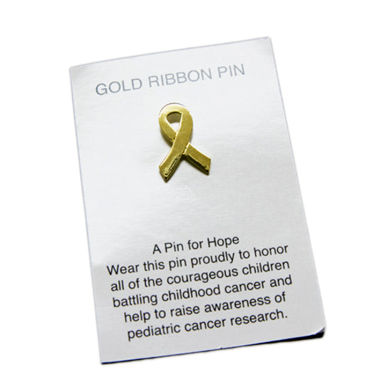 Gold Ribbon Pins