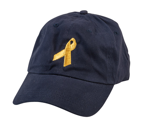Embroidered Gold Ribbon Hat