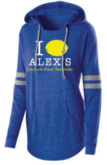 Alex's Lemonade Stand high-quality ladies hoodie to benefit childhood cancer research