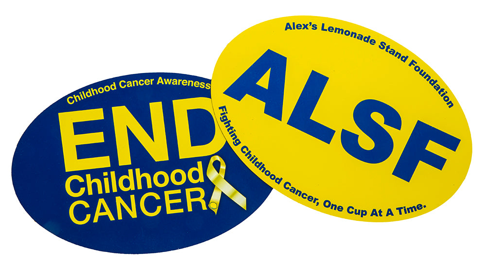 Childhood Cancer Awareness 2pk Car Magnet Set