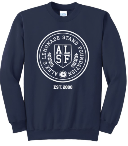 Alex's Lemonade Collegiate Navy Crewneck