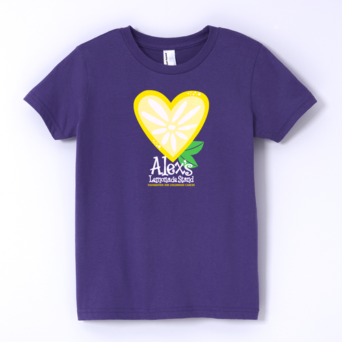 ALSF Ladies Heart Purple T-Shirt