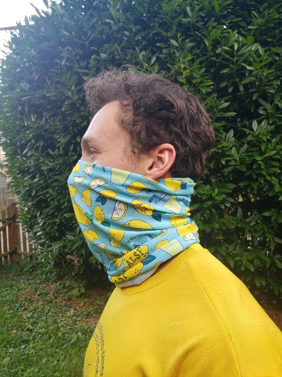 ALSF Lemonade and Lemons Face Buff Neck Gaiter