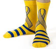 Gold Ribbon Crazy Socks