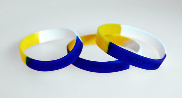 ALSF Tri-Color Adult Size Wristband