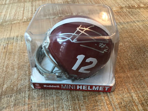 Autographed Alabama Mini Helmet