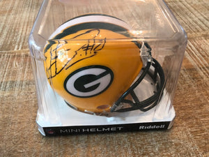 Autographed Green Bay Packers Mini Helmet