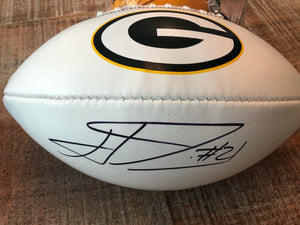 White Panel Full Size Autographed Football