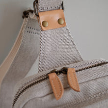 Thick Chambray Canvas One Shoulder Bag