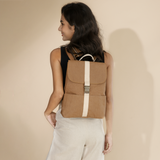 Stylish vegan leather backpack made of non-synthetic material