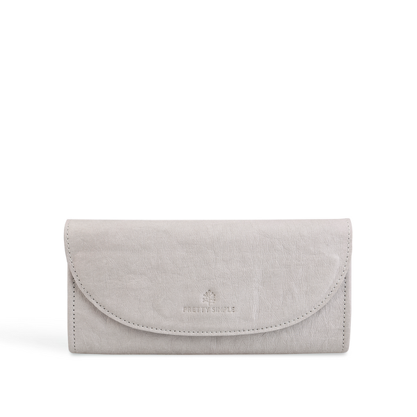 Annie Continental Vegan Wallet Grey