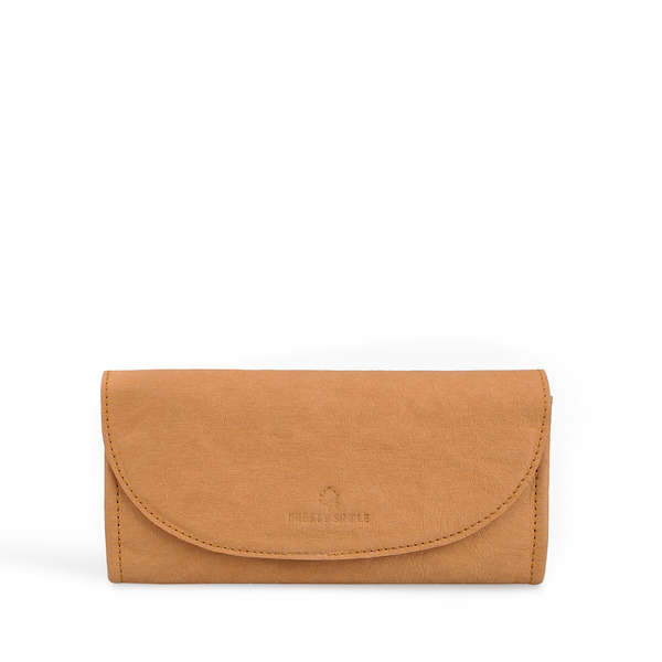 Annie Continental Vegan Wallet Bright Camel