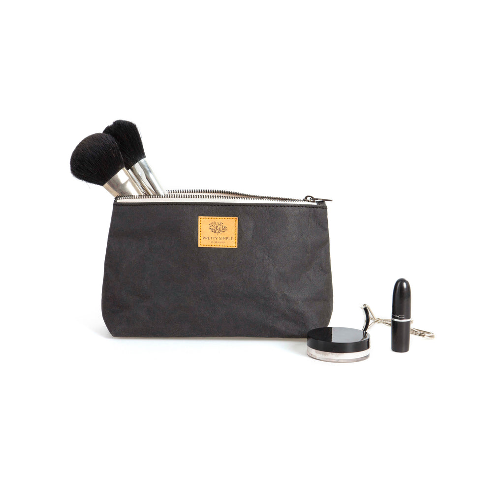 Sofia Vegan Cosmetic Bag | Black